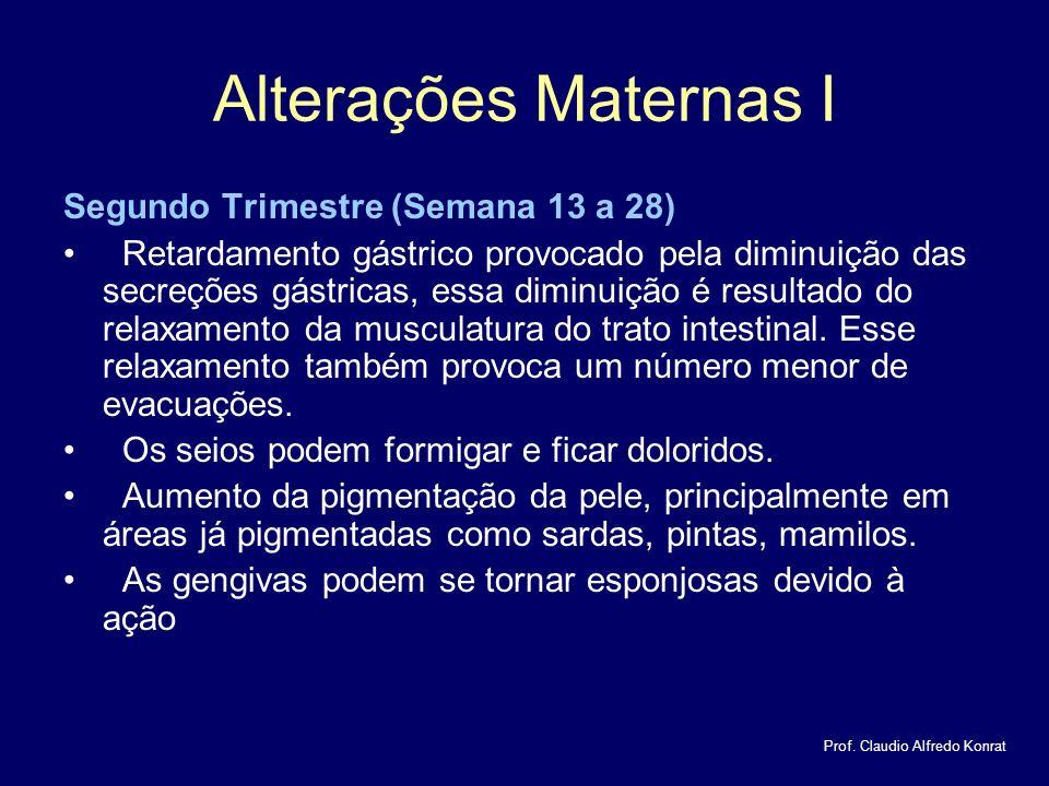 Alterações Maternas I Segundo Trimestre (Semana 13 a 28)