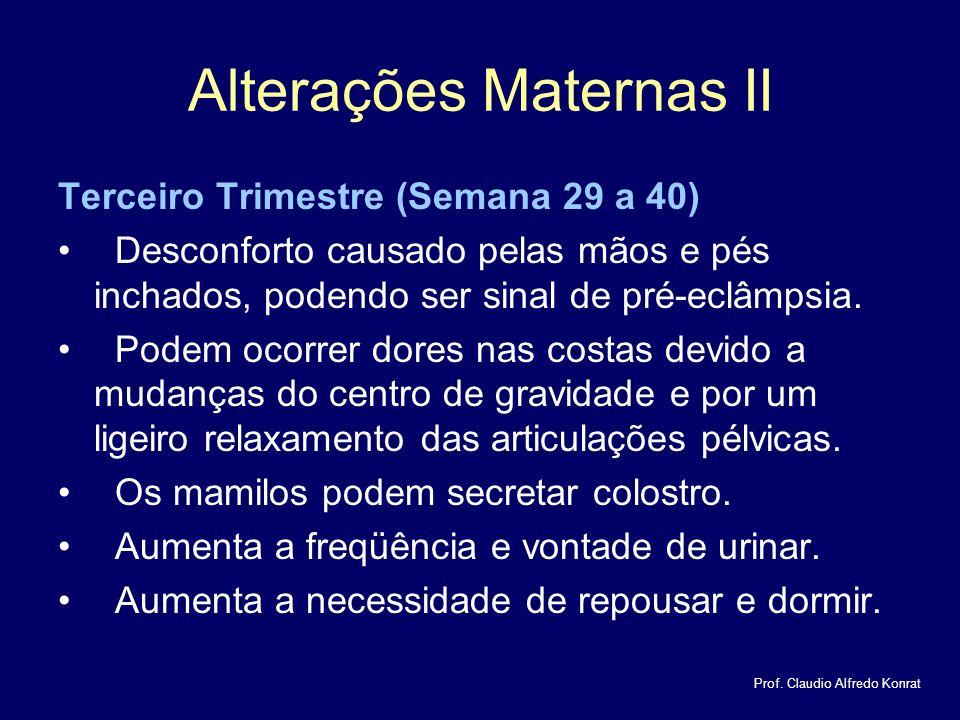 Alterações Maternas II