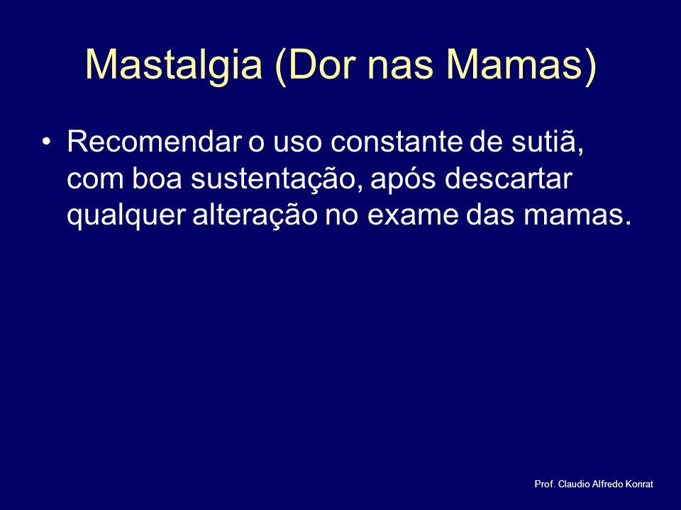 Mastalgia (Dor nas Mamas)