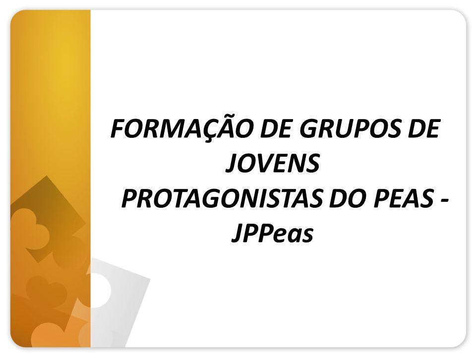 FORMAÇÃO DE GRUPOS DE JOVENS PROTAGONISTAS DO PEAS - JPPeas