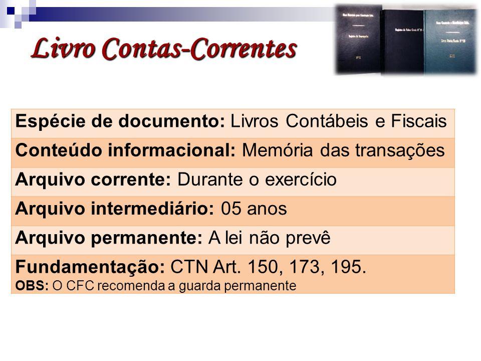 Livro Contas-Correntes