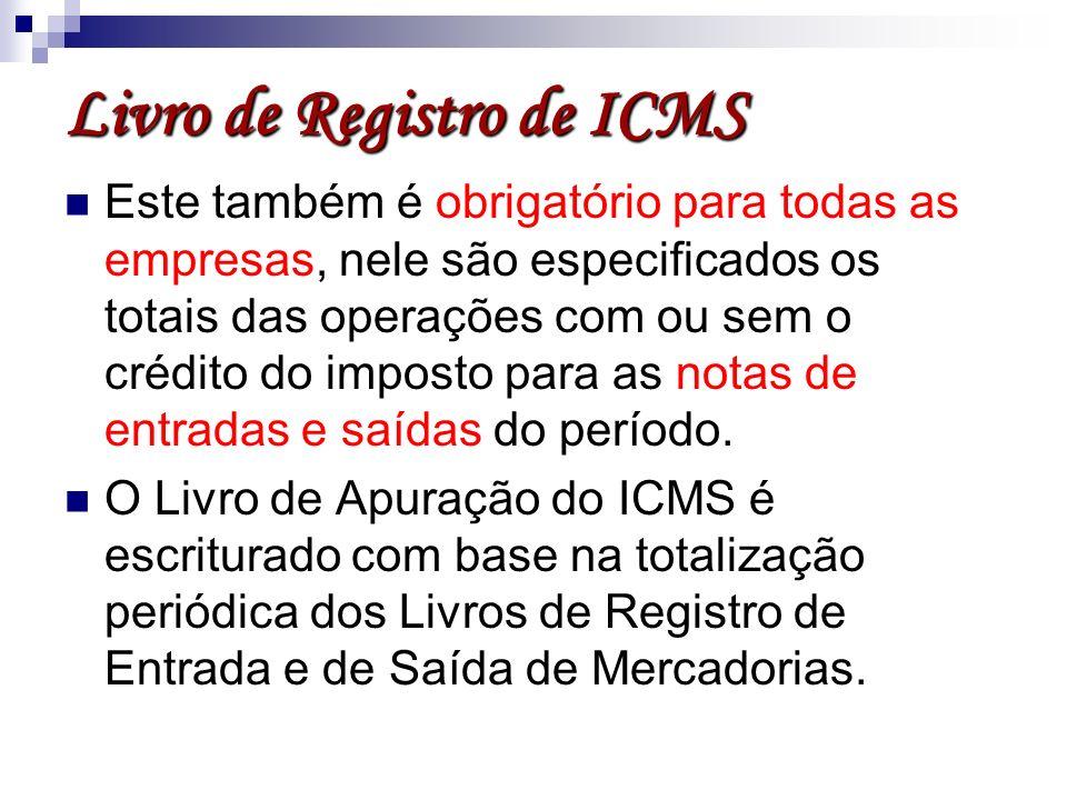 Livro de Registro de ICMS
