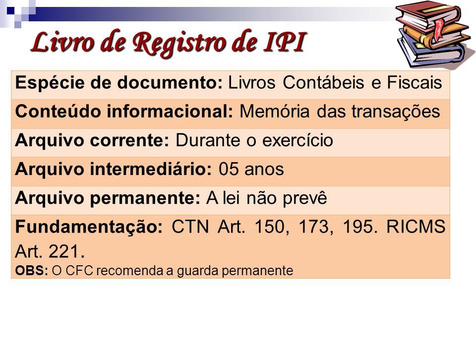 Livro de Registro de IPI