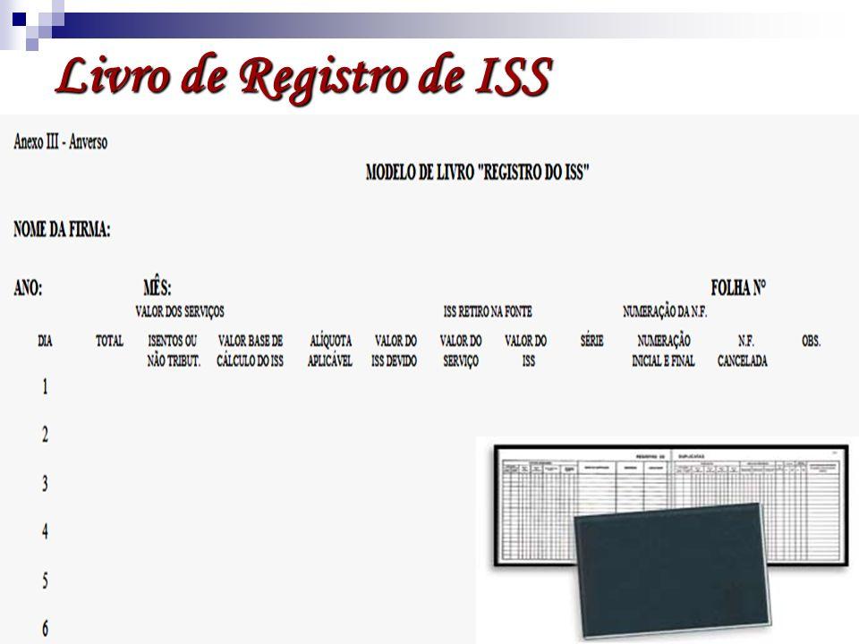 Livro de Registro de ISS