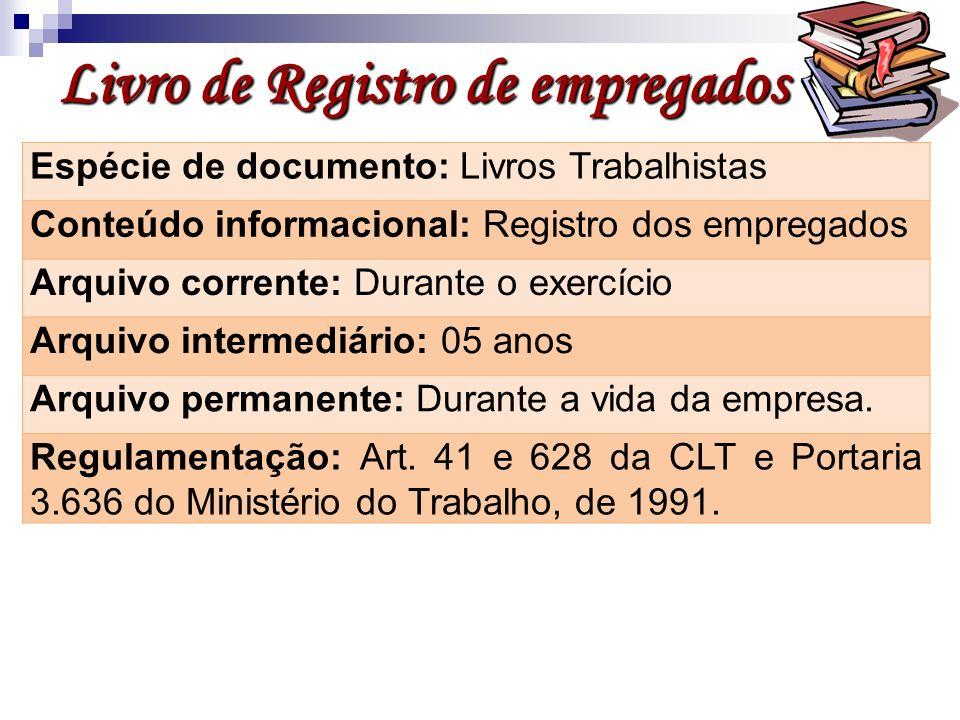 Livro de Registro de empregados