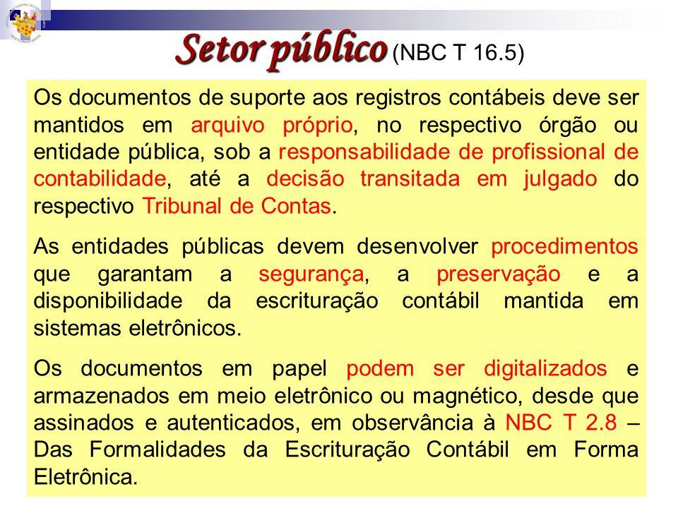 Setor público (NBC T 16.5)