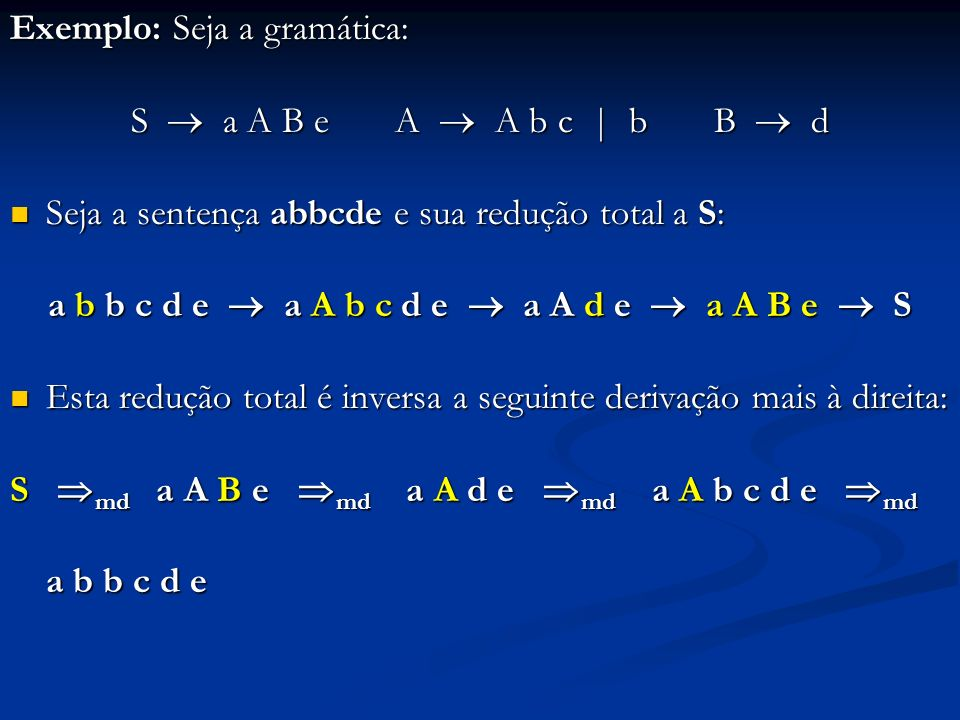 a b b c d e  a A b c d e  a A d e  a A B e  S