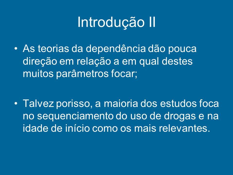 Introdução II As teorias da dependência dão pouca direção em relação a em qual destes muitos parâmetros focar;