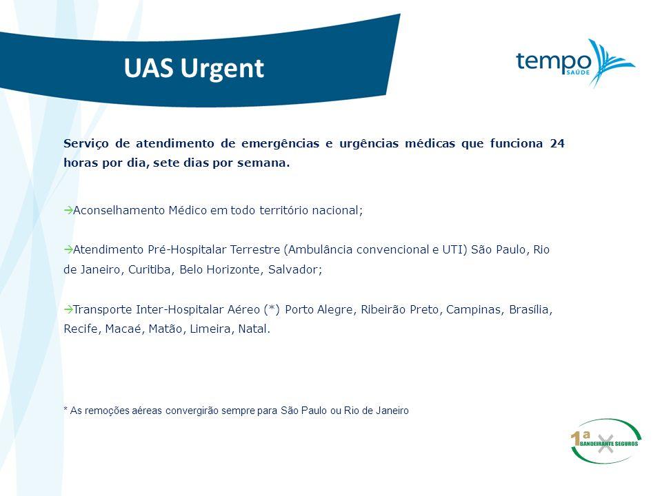 UAS Urgent Serviço de atendimento de emergências e urgências médicas que funciona 24 horas por dia, sete dias por semana.