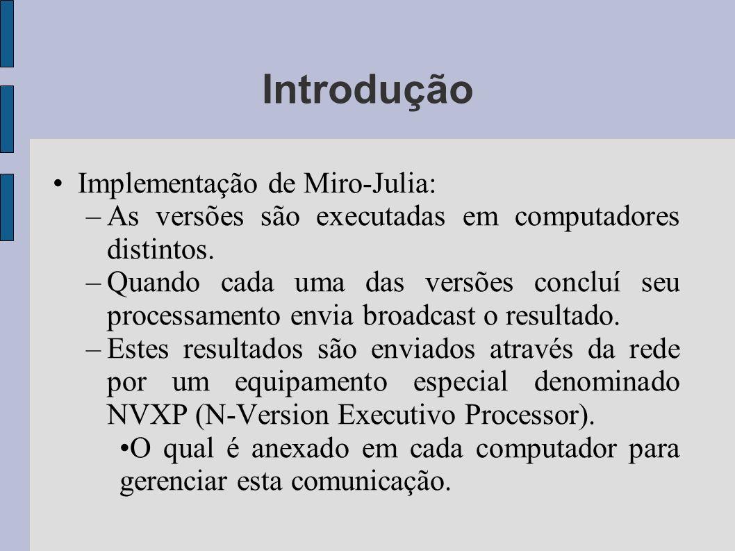 Introdução Implementação de Miro-Julia: