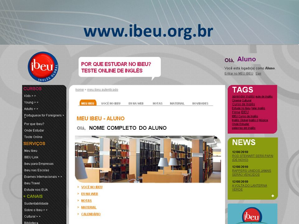 www.ibeu.org.br Aluno NOME COMPLETO DO ALUNO