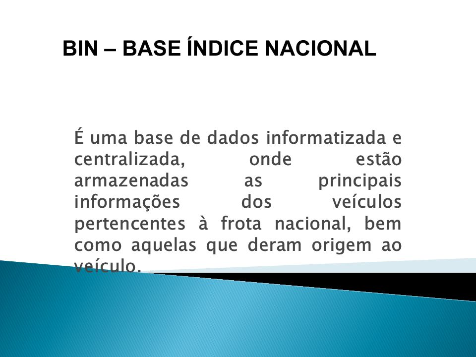 BIN – BASE ÍNDICE NACIONAL