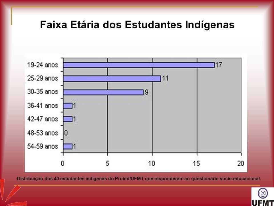 Faixa Etária dos Estudantes Indígenas