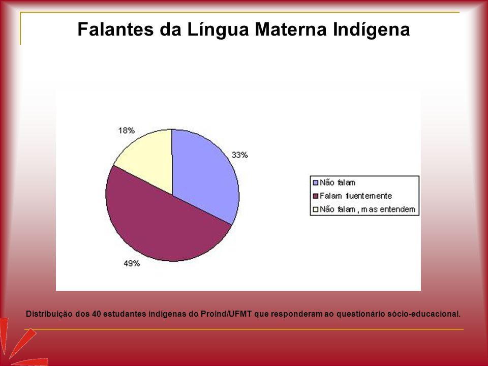 Falantes da Língua Materna Indígena