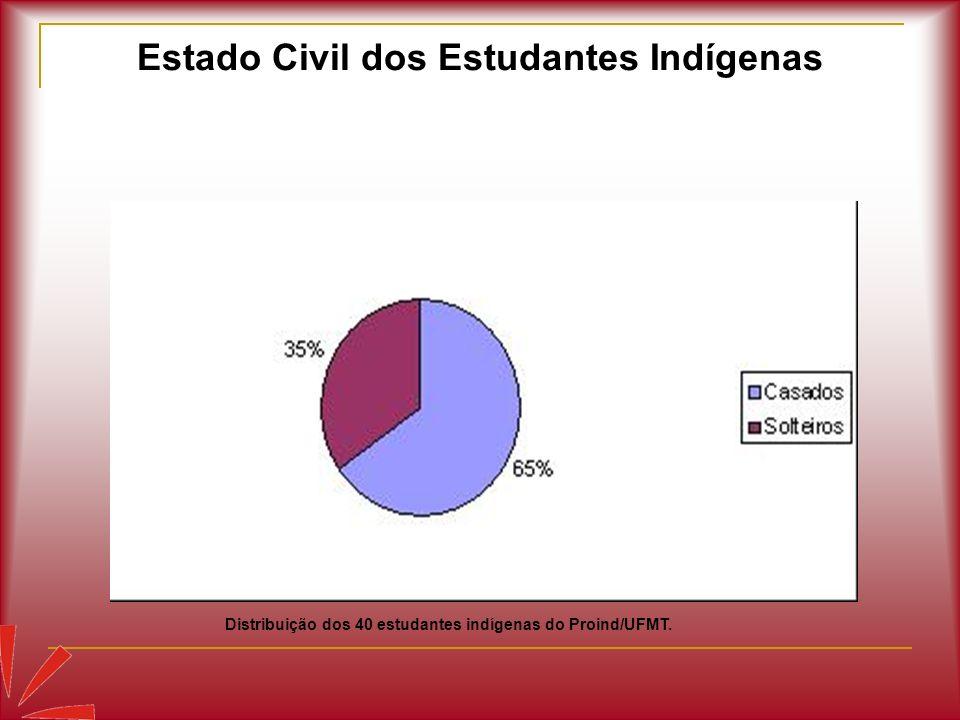 Estado Civil dos Estudantes Indígenas