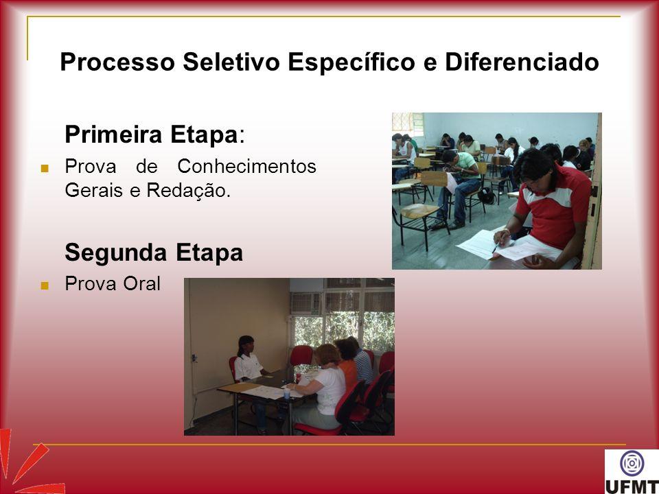 Processo Seletivo Específico e Diferenciado