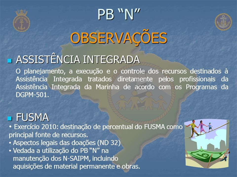 PB N OBSERVAÇÕES ASSISTÊNCIA INTEGRADA FUSMA