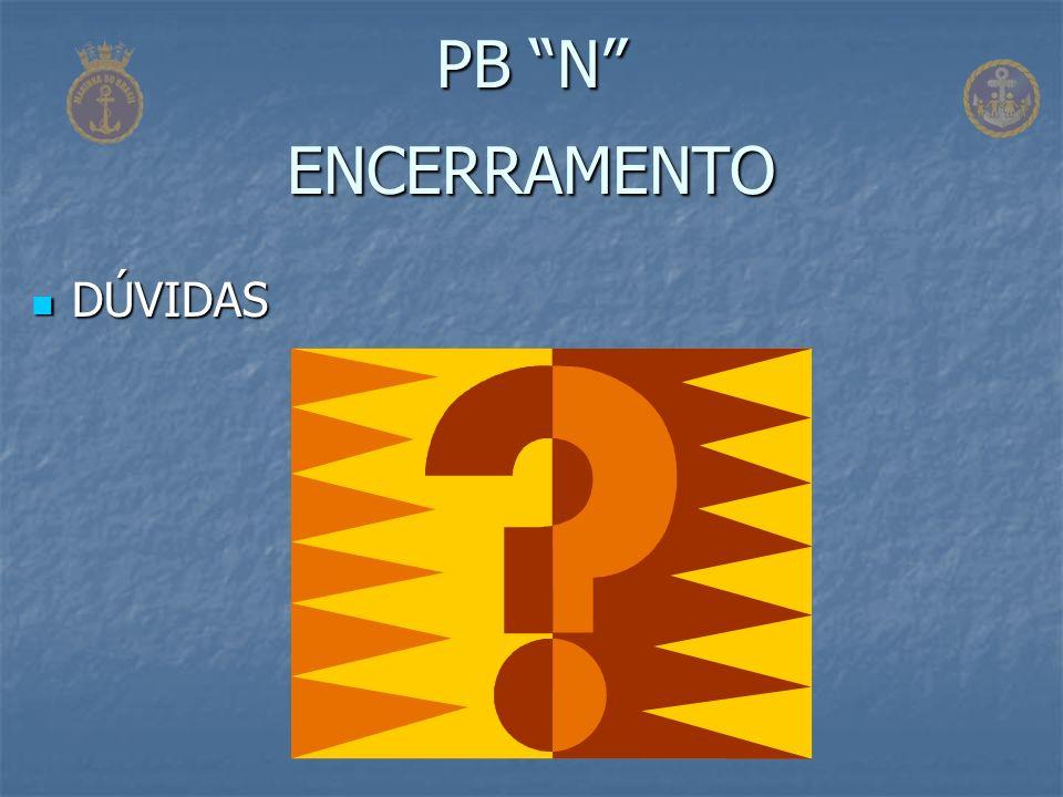 PB N ENCERRAMENTO DÚVIDAS