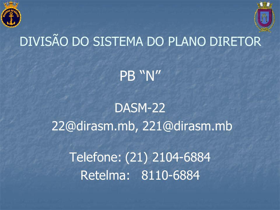 DIVISÃO DO SISTEMA DO PLANO DIRETOR