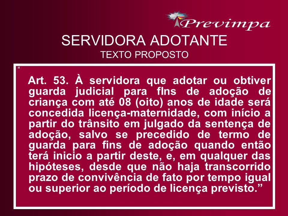 SERVIDORA ADOTANTE TEXTO PROPOSTO
