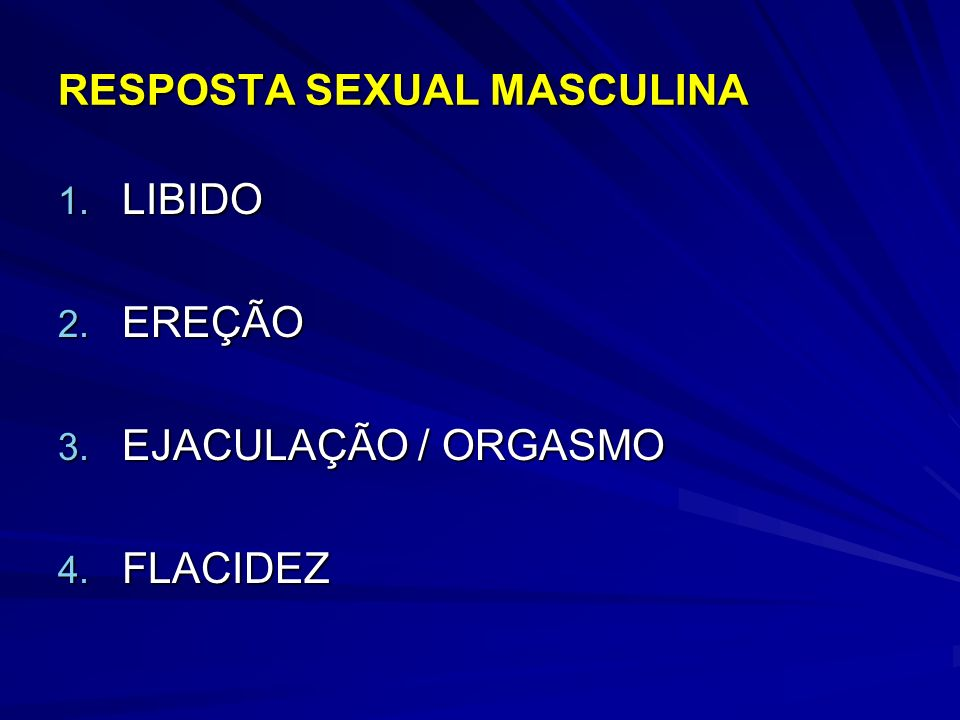 RESPOSTA SEXUAL MASCULINA