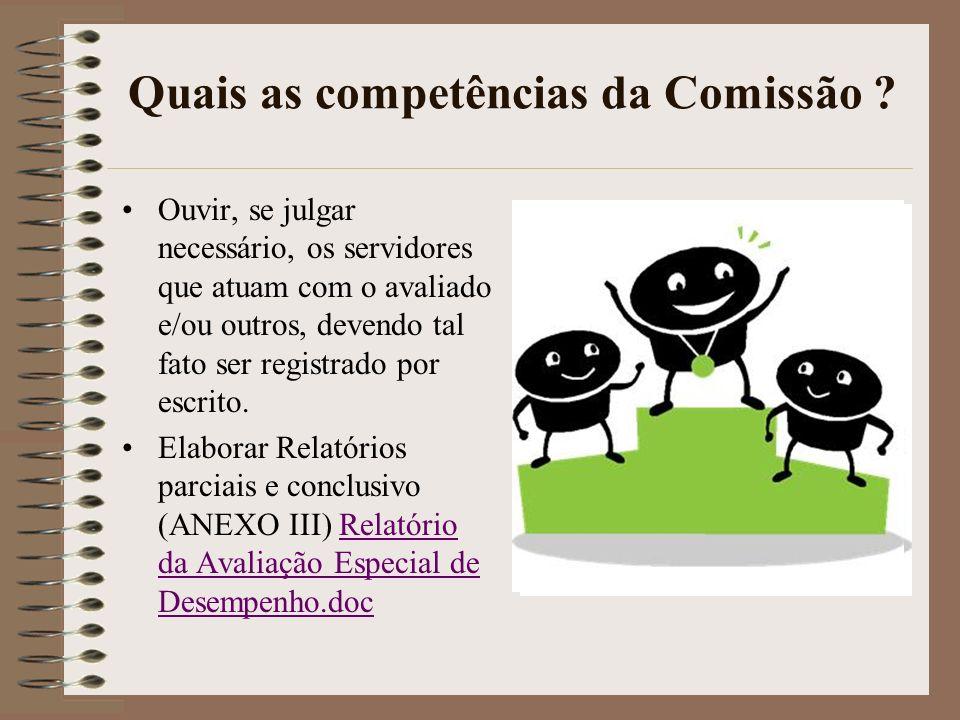 Quais as competências da Comissão