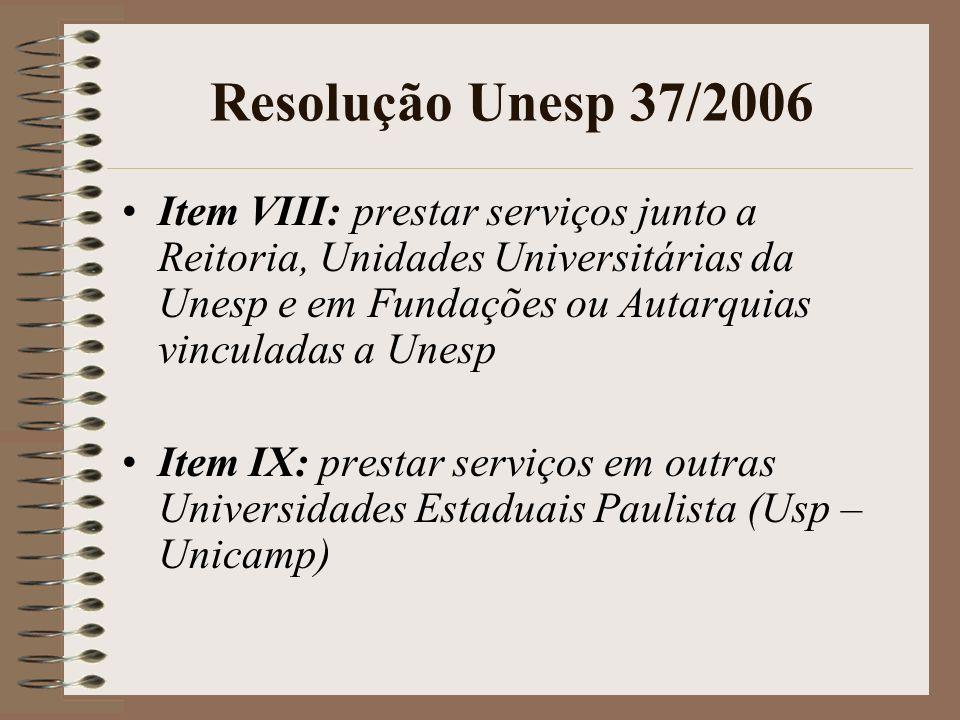 Resolução Unesp 37/2006