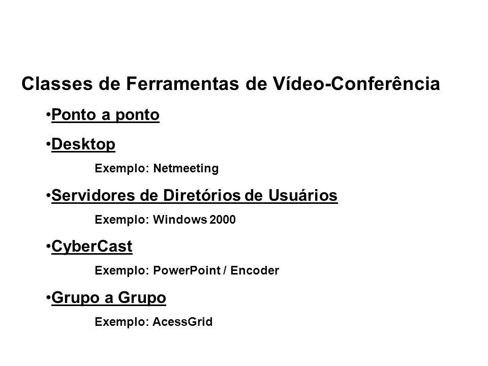 Classes de Ferramentas de Vídeo-Conferência