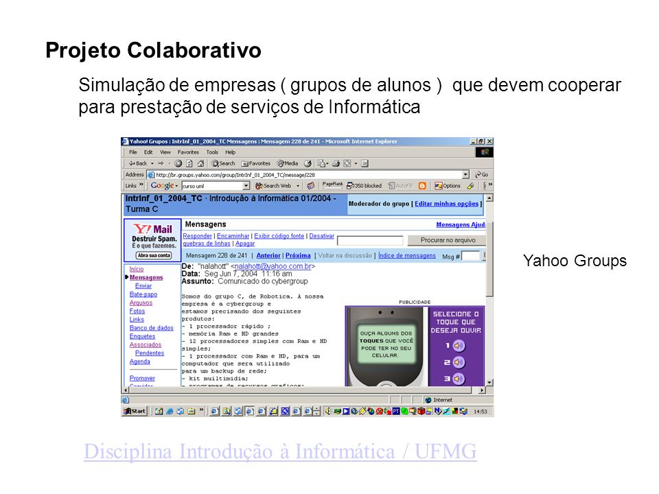 Disciplina Introdução à Informática / UFMG