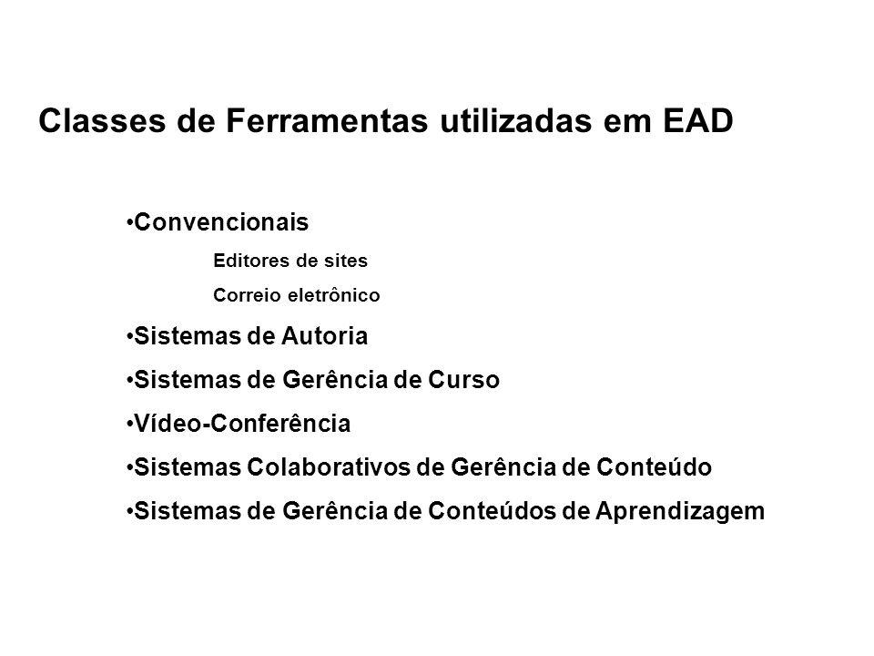 Classes de Ferramentas utilizadas em EAD