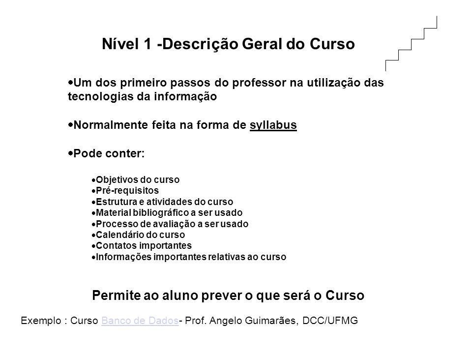 Nível 1 -Descrição Geral do Curso
