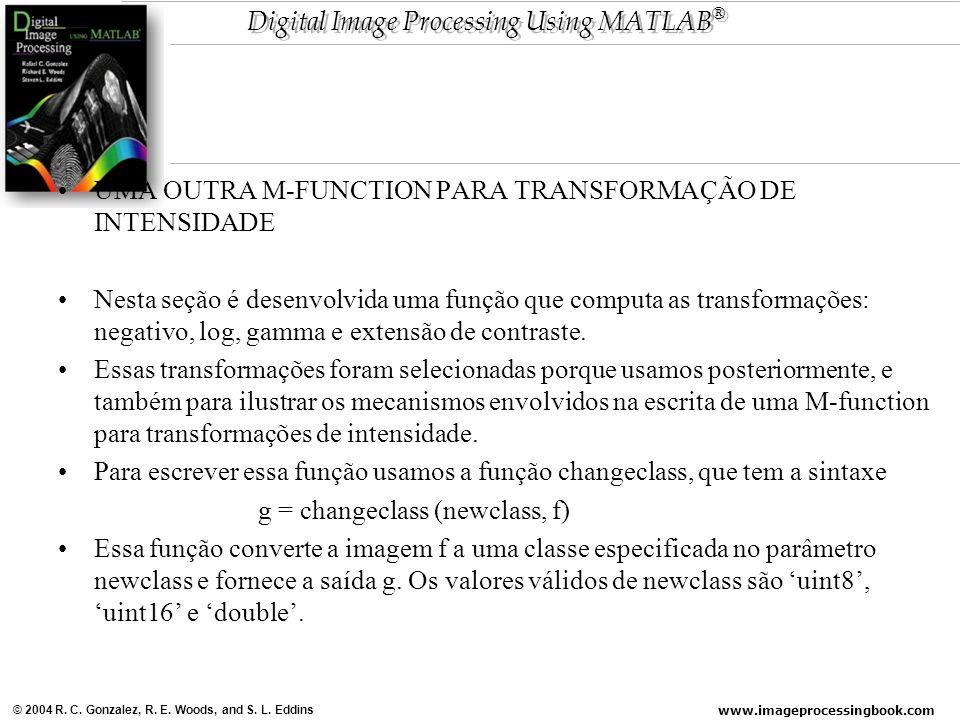 UMA OUTRA M-FUNCTION PARA TRANSFORMAÇÃO DE INTENSIDADE