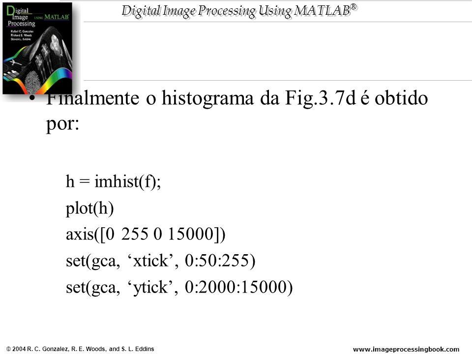 Finalmente o histograma da Fig.3.7d é obtido por: