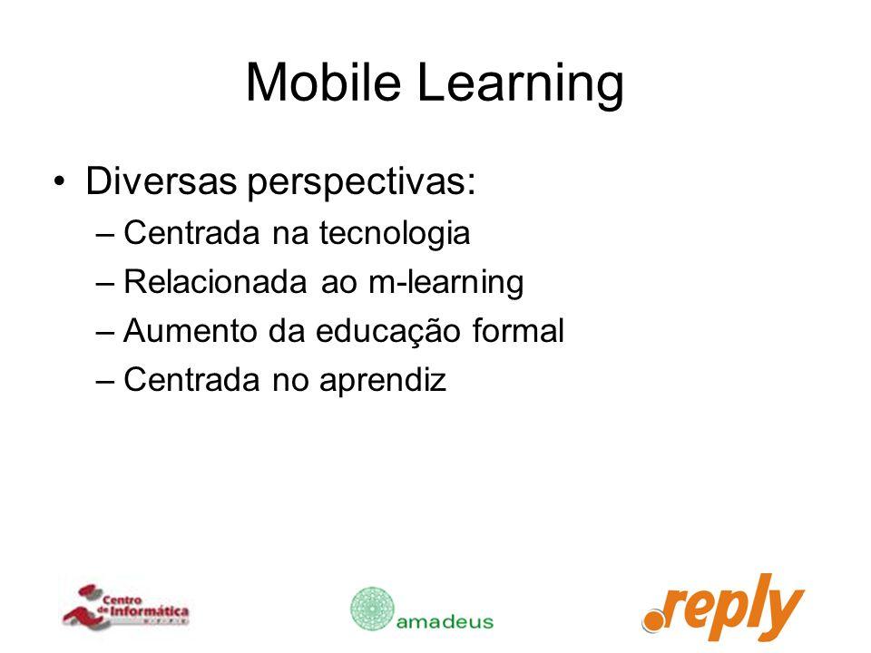 Mobile Learning Diversas perspectivas: Centrada na tecnologia