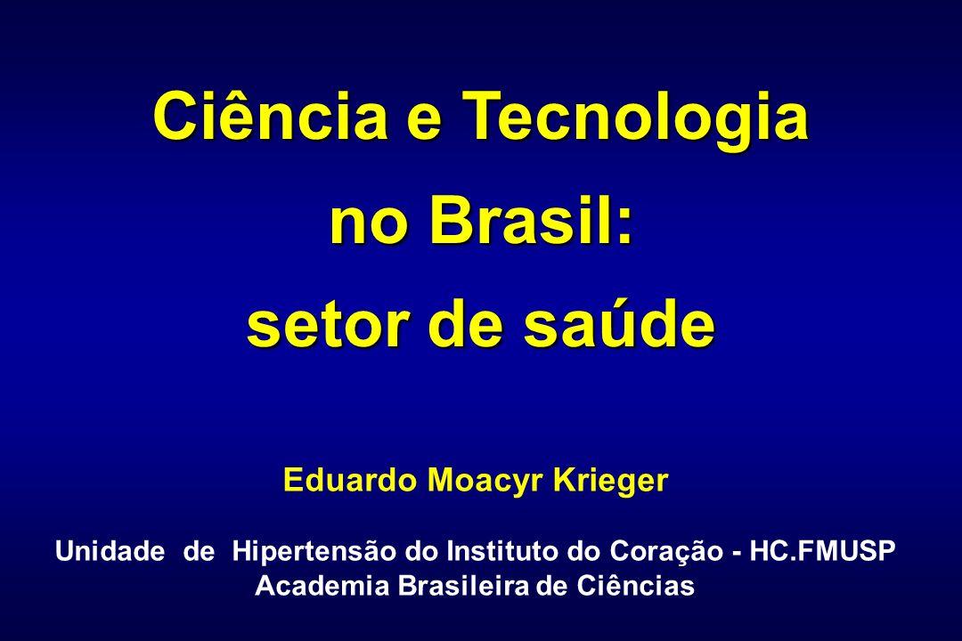 Ciência e Tecnologia no Brasil: setor de saúde