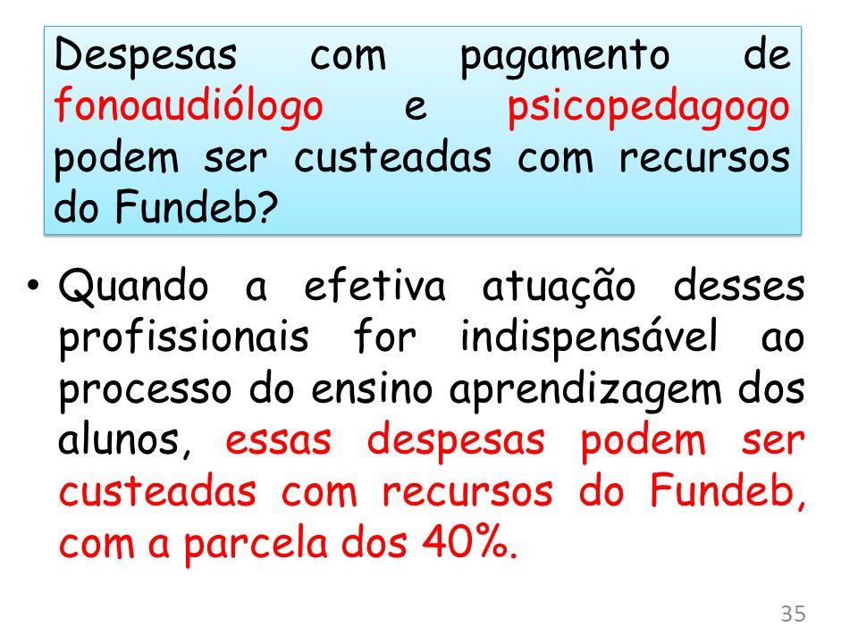 Despesas com pagamento de fonoaudiólogo e psicopedagogo podem ser custeadas com recursos do Fundeb