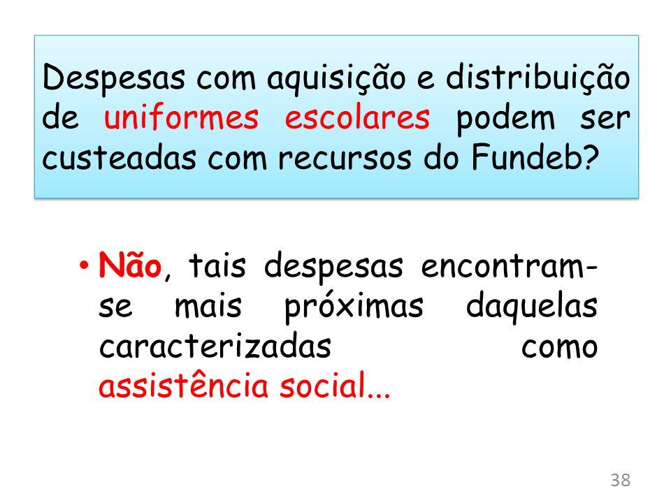 Despesas com aquisição e distribuição de uniformes escolares podem ser custeadas com recursos do Fundeb