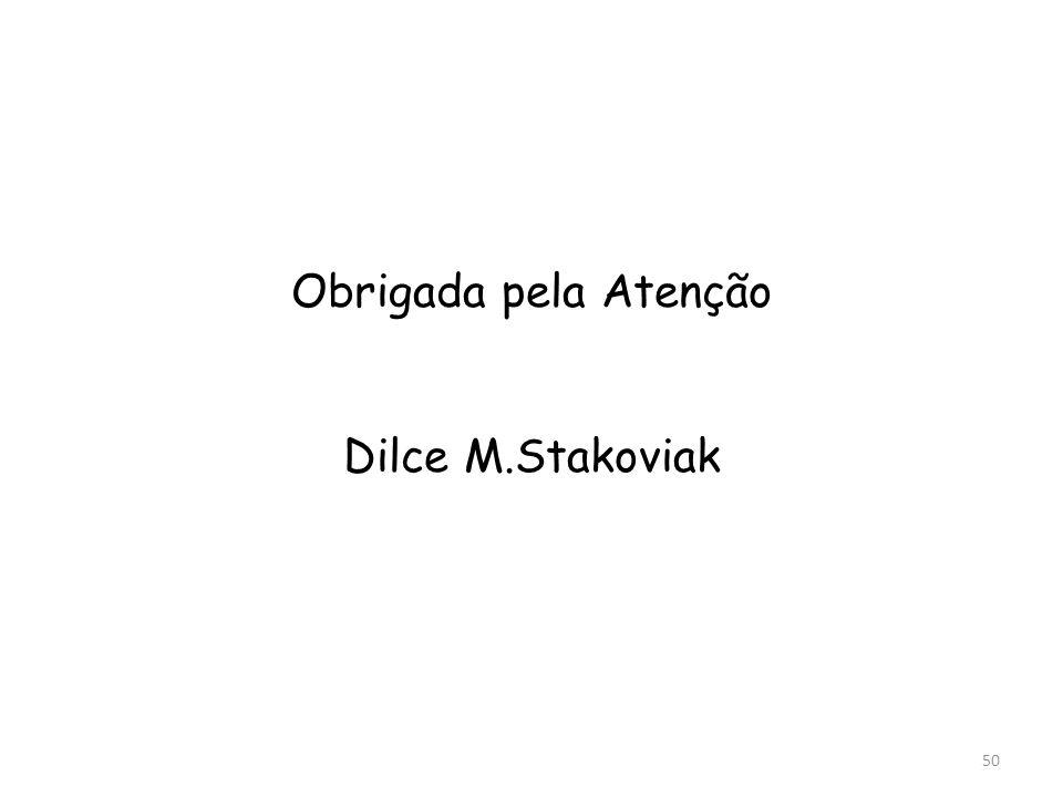 Obrigada pela Atenção Dilce M.Stakoviak