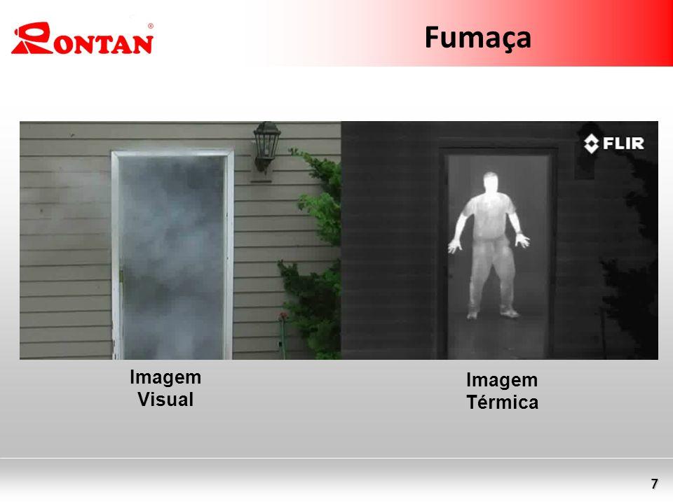 Fumaça Imagem Visual Imagem Térmica