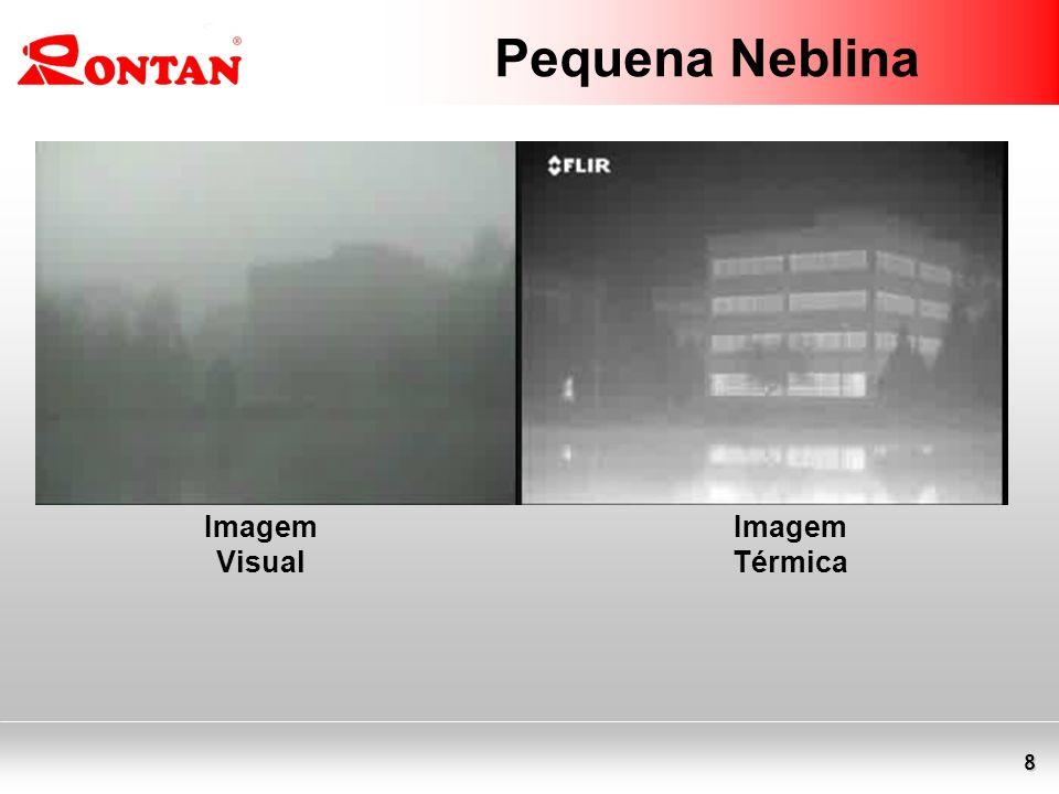 Pequena Neblina Imagem Visual Imagem Térmica
