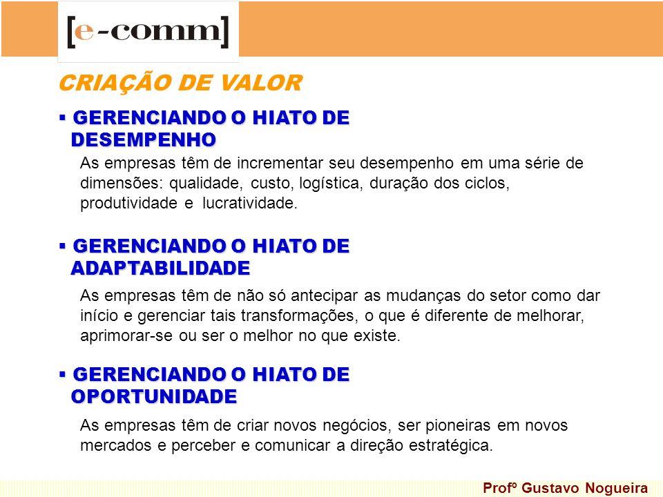 CRIAÇÃO DE VALOR GERENCIANDO O HIATO DE DESEMPENHO