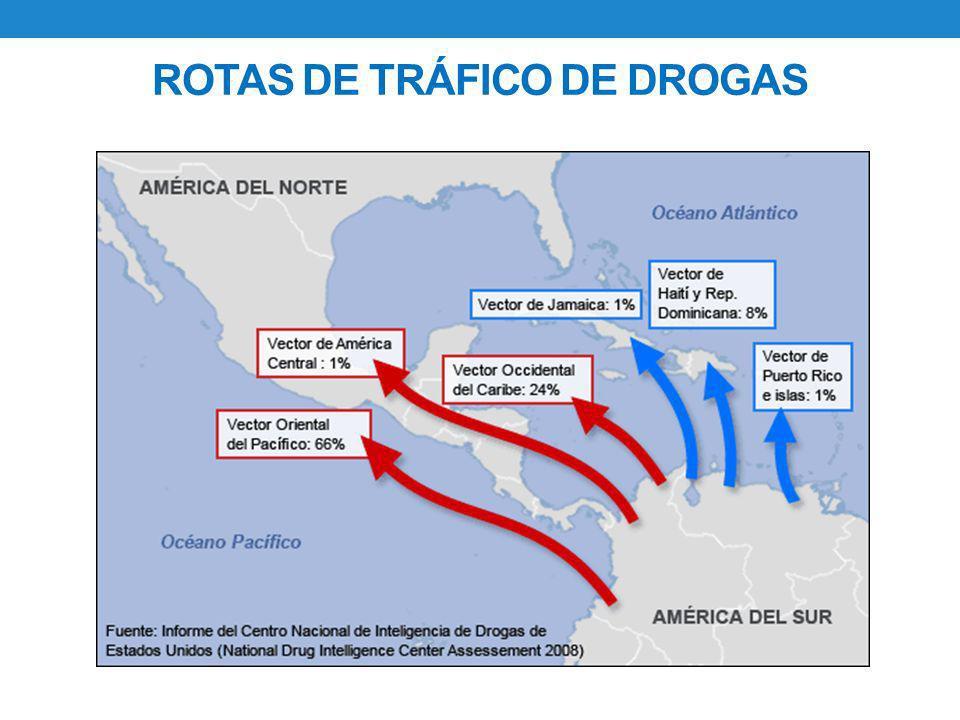 ROTAS DE TRÁFICO DE DROGAS