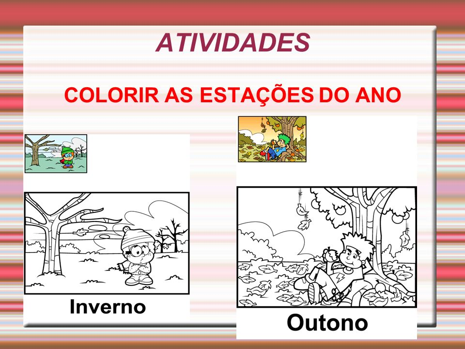 COLORIR AS ESTAÇÕES DO ANO