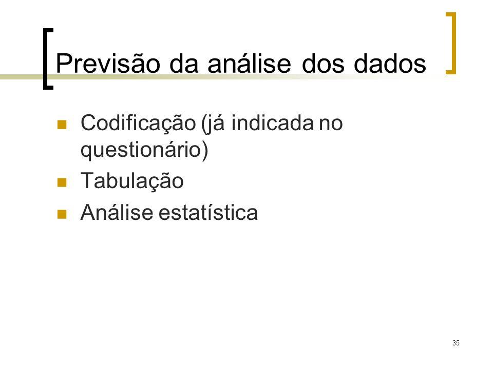Previsão da análise dos dados