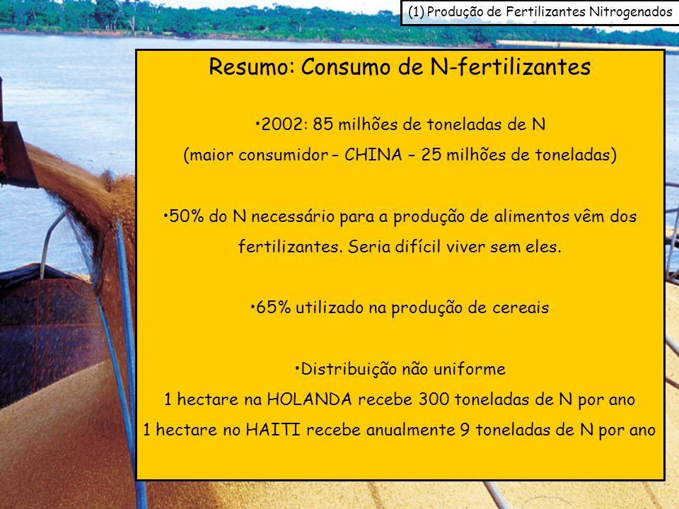 Resumo: Consumo de N-fertilizantes