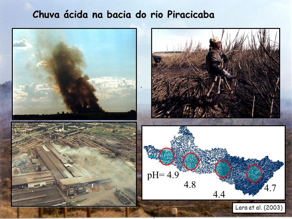 Chuva ácida na bacia do rio Piracicaba