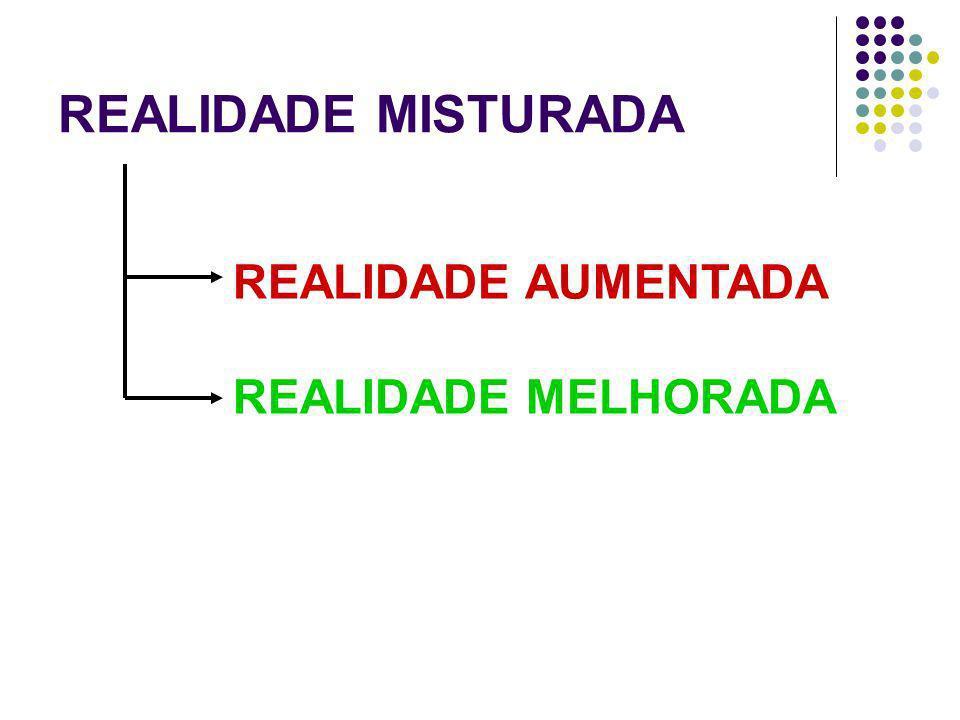 REALIDADE MISTURADA REALIDADE AUMENTADA REALIDADE MELHORADA