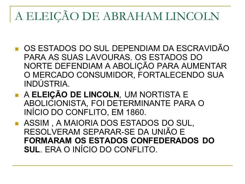 A ELEIÇÃO DE ABRAHAM LINCOLN