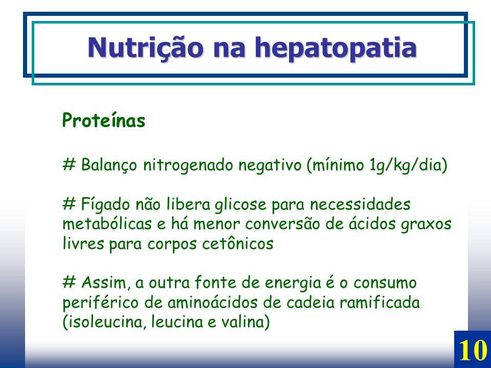 10 Nutrição na hepatopatia Proteínas