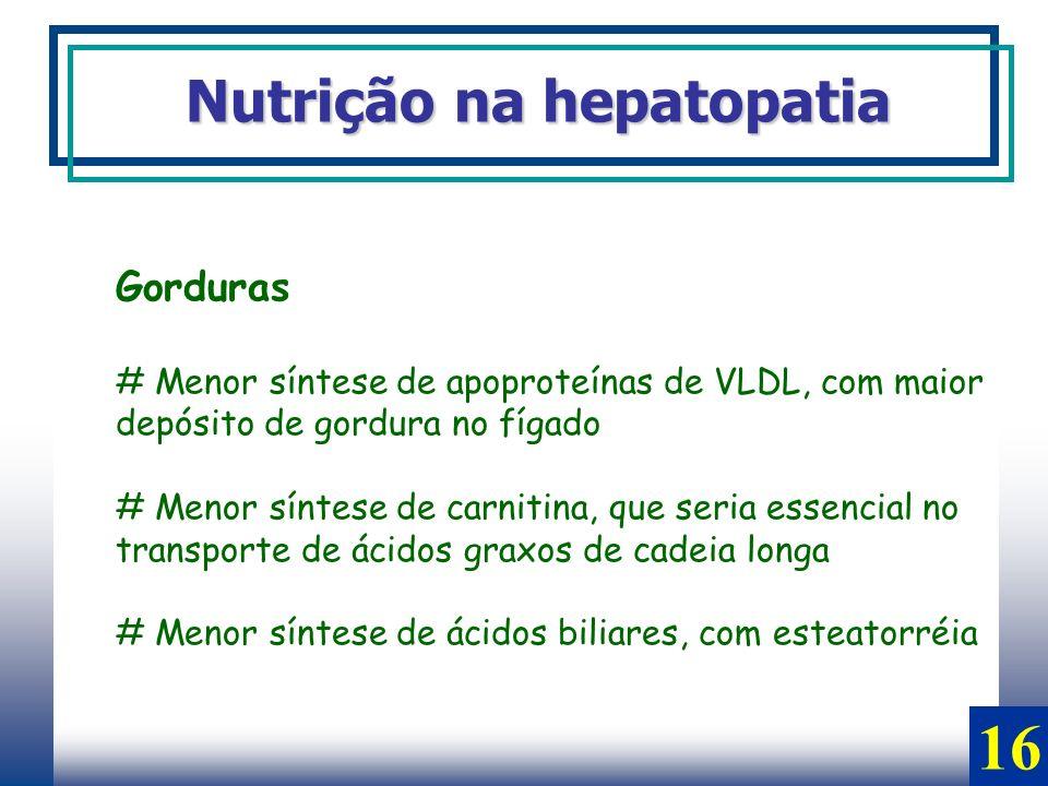 16 Nutrição na hepatopatia Gorduras